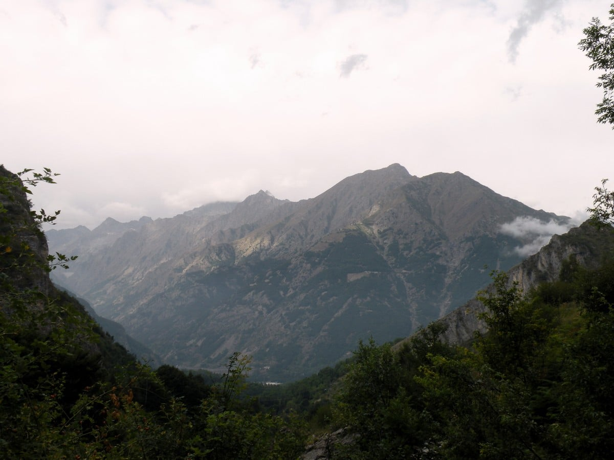 Overview of the park from the Gorge Della Reina Hike in Alpi Marittime National Park, Italy