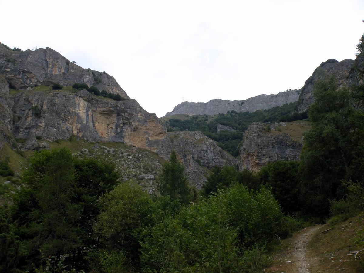 The cliffs from the Gorge Della Reina Hike in Alpi Marittime National Park, Italy