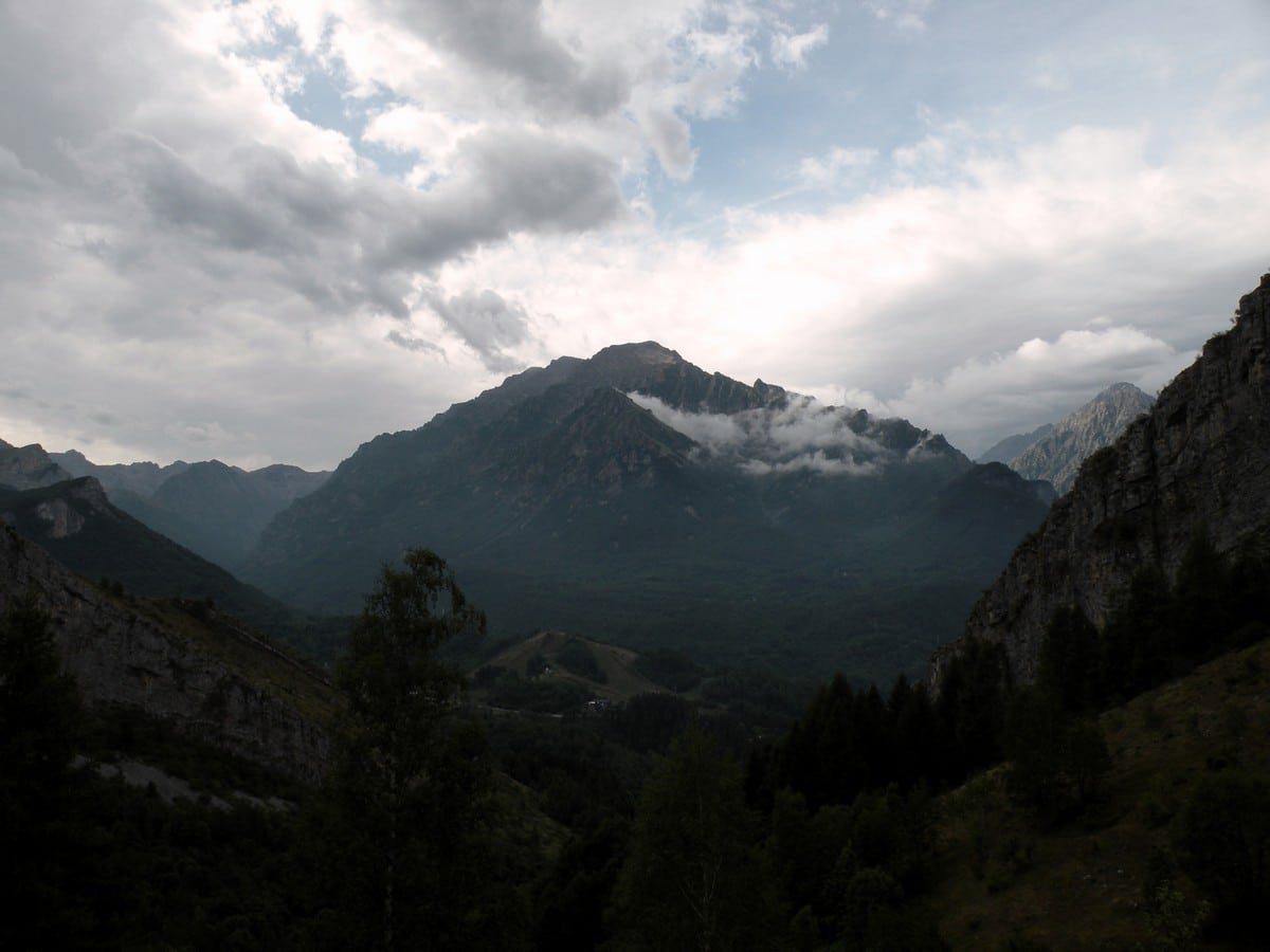 The Monte Aiera from the Gorge Della Reina Hike in Alpi Marittime National Park, Italy