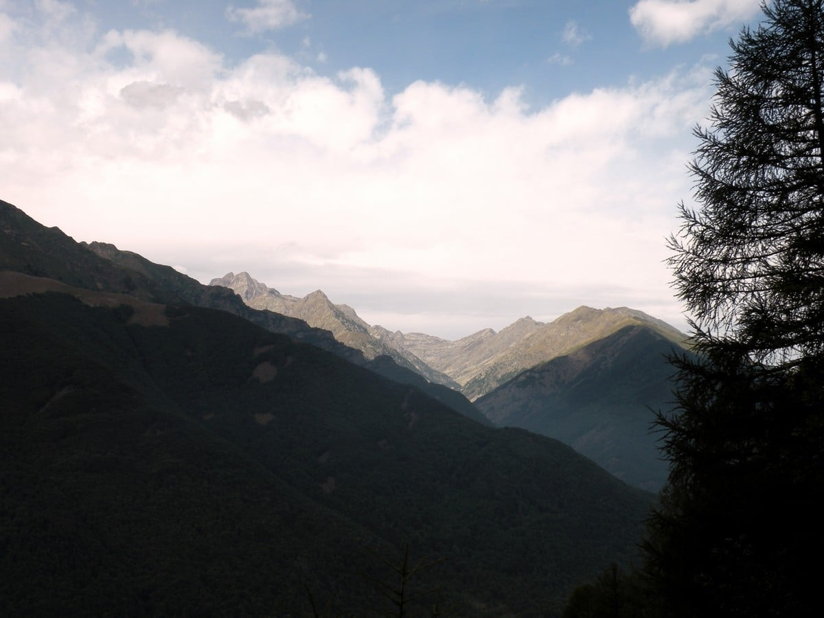 Overview to the park from the Gorge Della Reina Hike in Alpi Marittime National Park, Italy