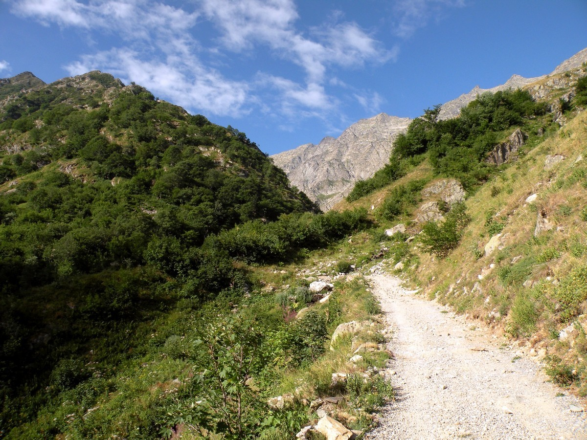 The road before the Praiet on the Il Piano del Praiet Hike in Alpi Marittime National Park, Italy