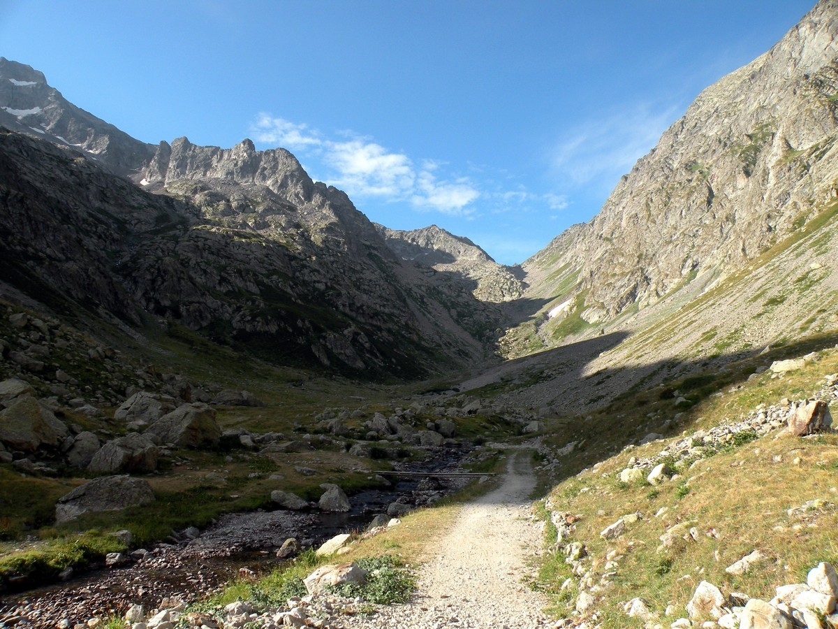 The Praiet and the Colle di Finestra on the Il Piano del Praiet Hike in Alpi Marittime National Park, Italy