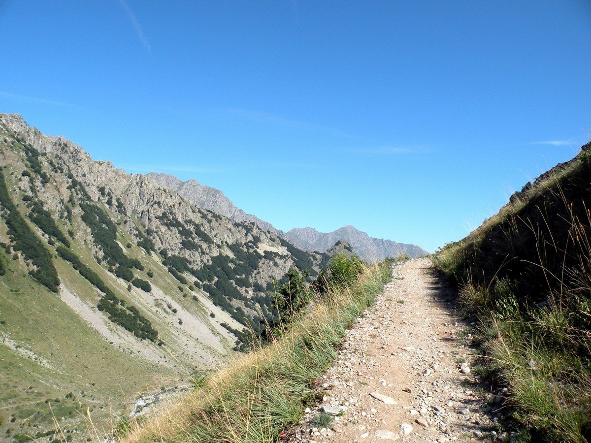 The view to the north from the Lago del Vei del Bouc Hike in Alpi Marittime National Park, Italy