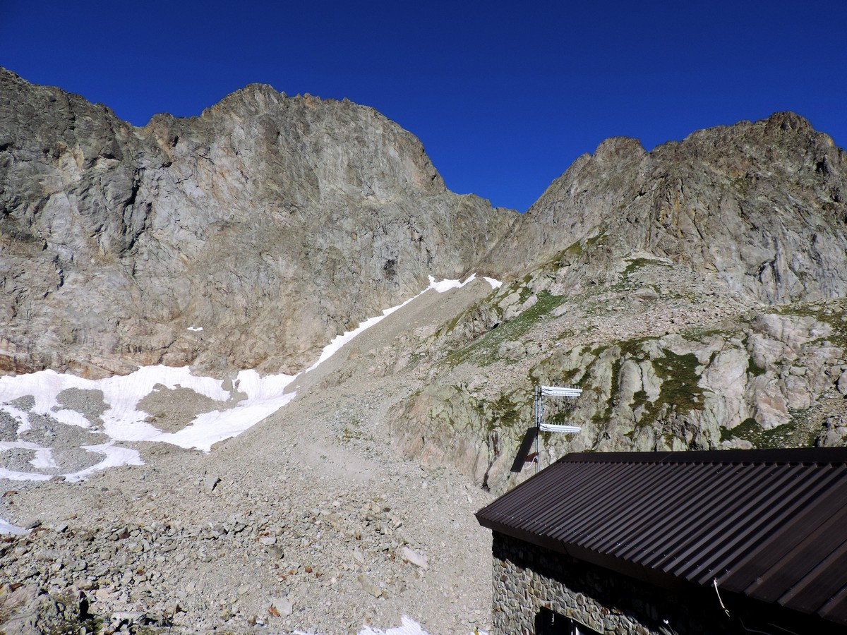 View from Rifugio Pagarì while hiking in Alpi Marittime
