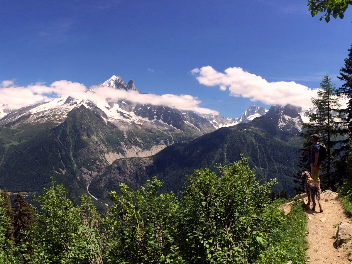 Mont Blanc can be seen on epic Grand Balcon Sud trail in Chamonix, France