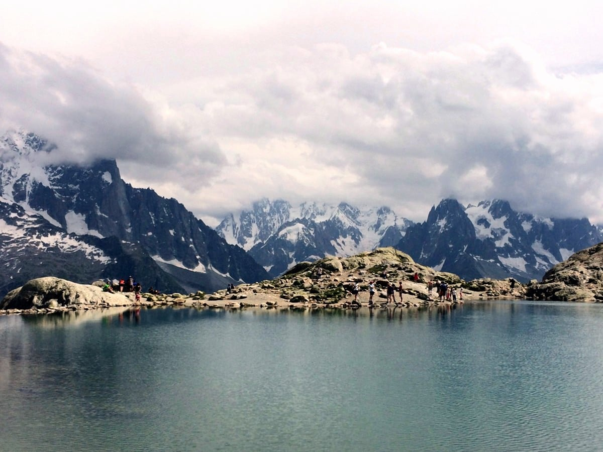 Lac Blanc is an alpine lake near Chamonix