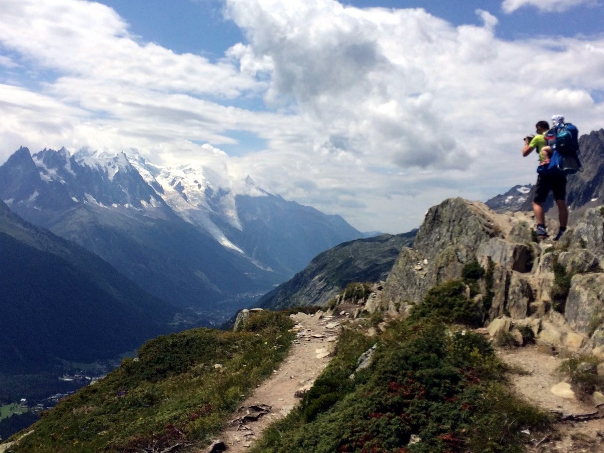 Summit on the Aiguilletteis des Posettes Hike