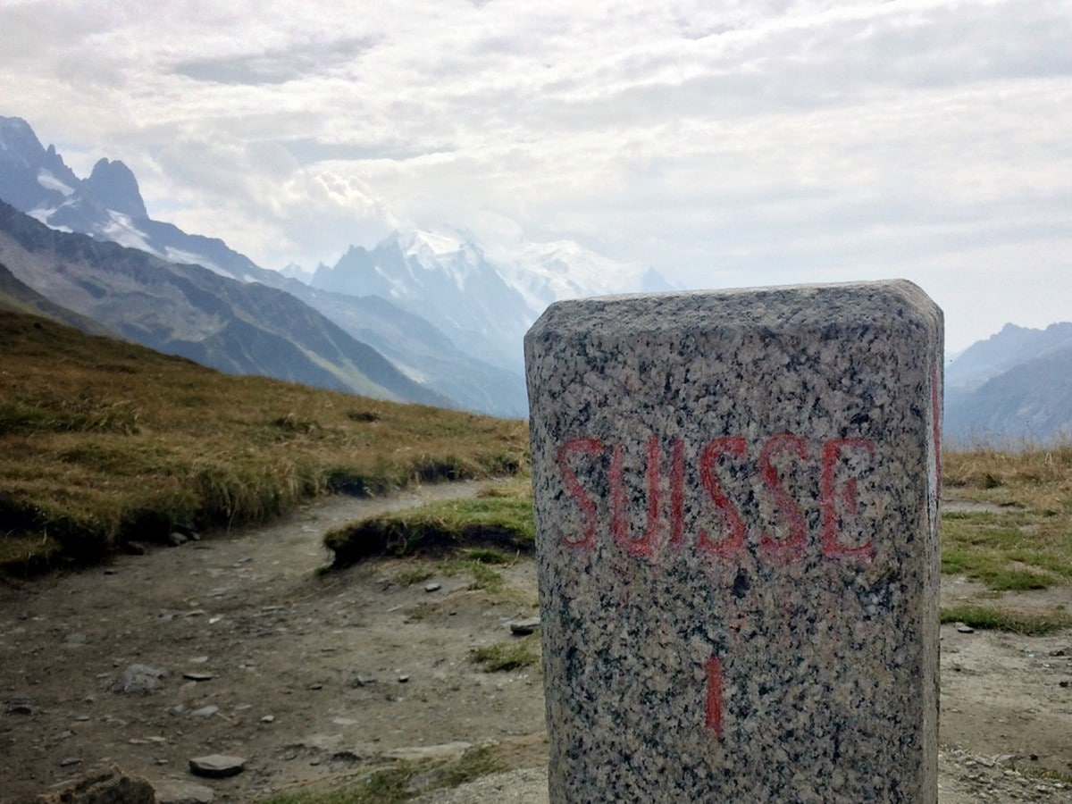 Col de Balme trail in France