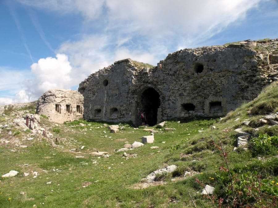 La-Forca fort entrance on the Authion Hike in Mercantour National Park, France