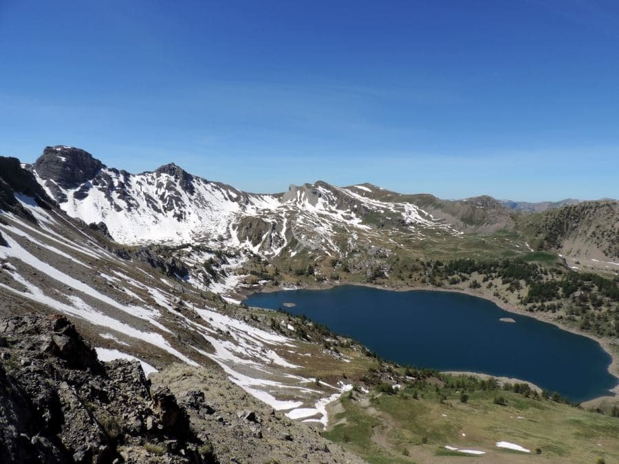 The Lac d'Allos from the Pas de Lausson on the Sommets des Garrets Hike in Mercantour National Park, France
