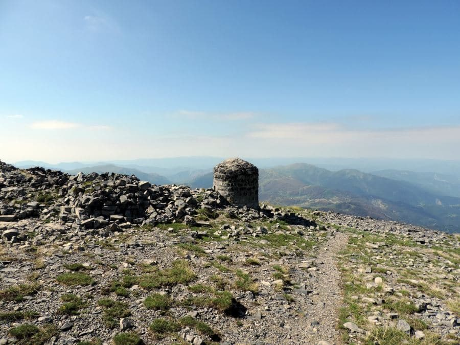 The military observatory on the Petit Mounier on the Le Mont Mounier Hike in Mercantour National Park, France