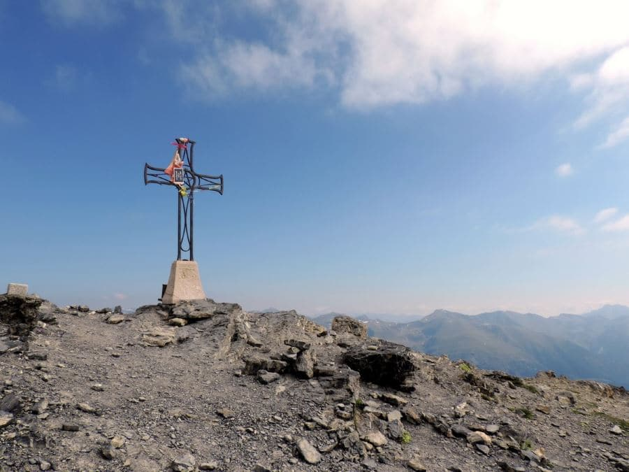 The peak on the Le Mont Mounier Hike in Mercantour National Park, France