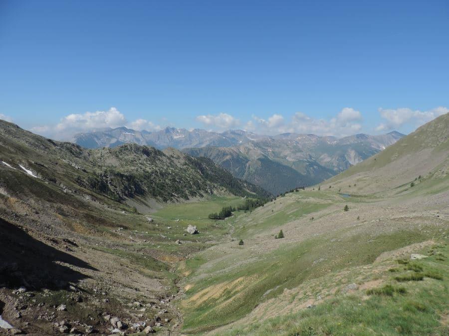 The Tortisse Valley from the Lacs de Vens Hike in Mercantour National Park, France