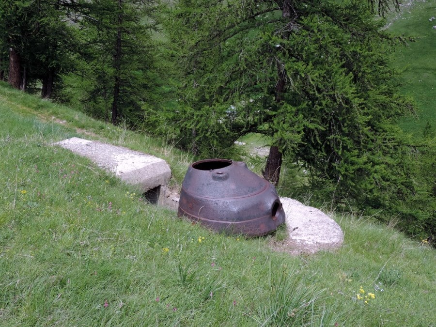 Bunker of the Maginot Line on the Lac de Sagnes Hike in Mercantour National Park, France