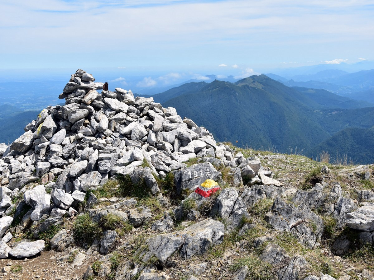 Summit cairn of the Pic de Cagire