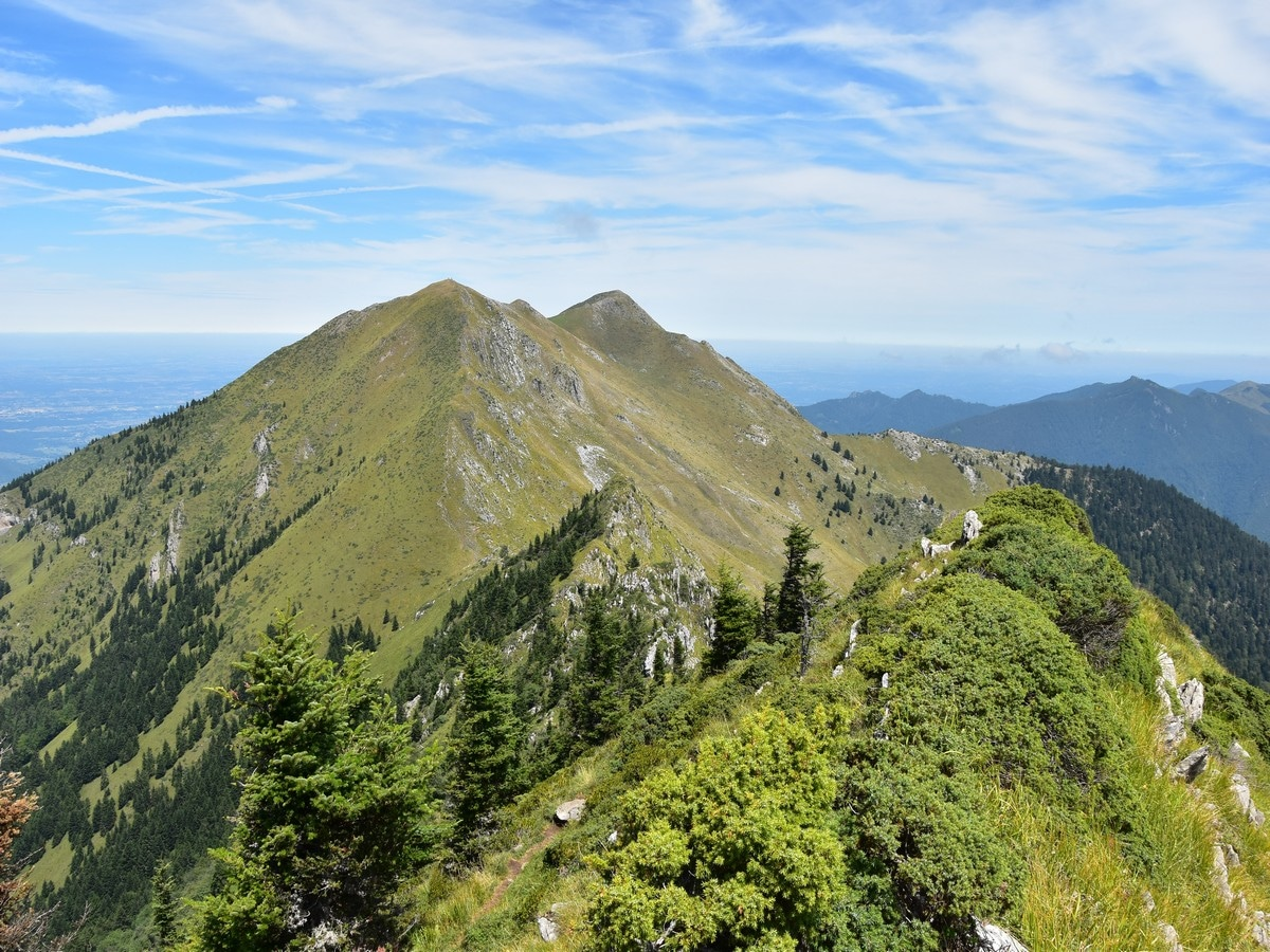 Sommet de Pique Poque and the Pic de Cagire from Sommet des Parets on the Cagire Loop Hike in French Pyrenees