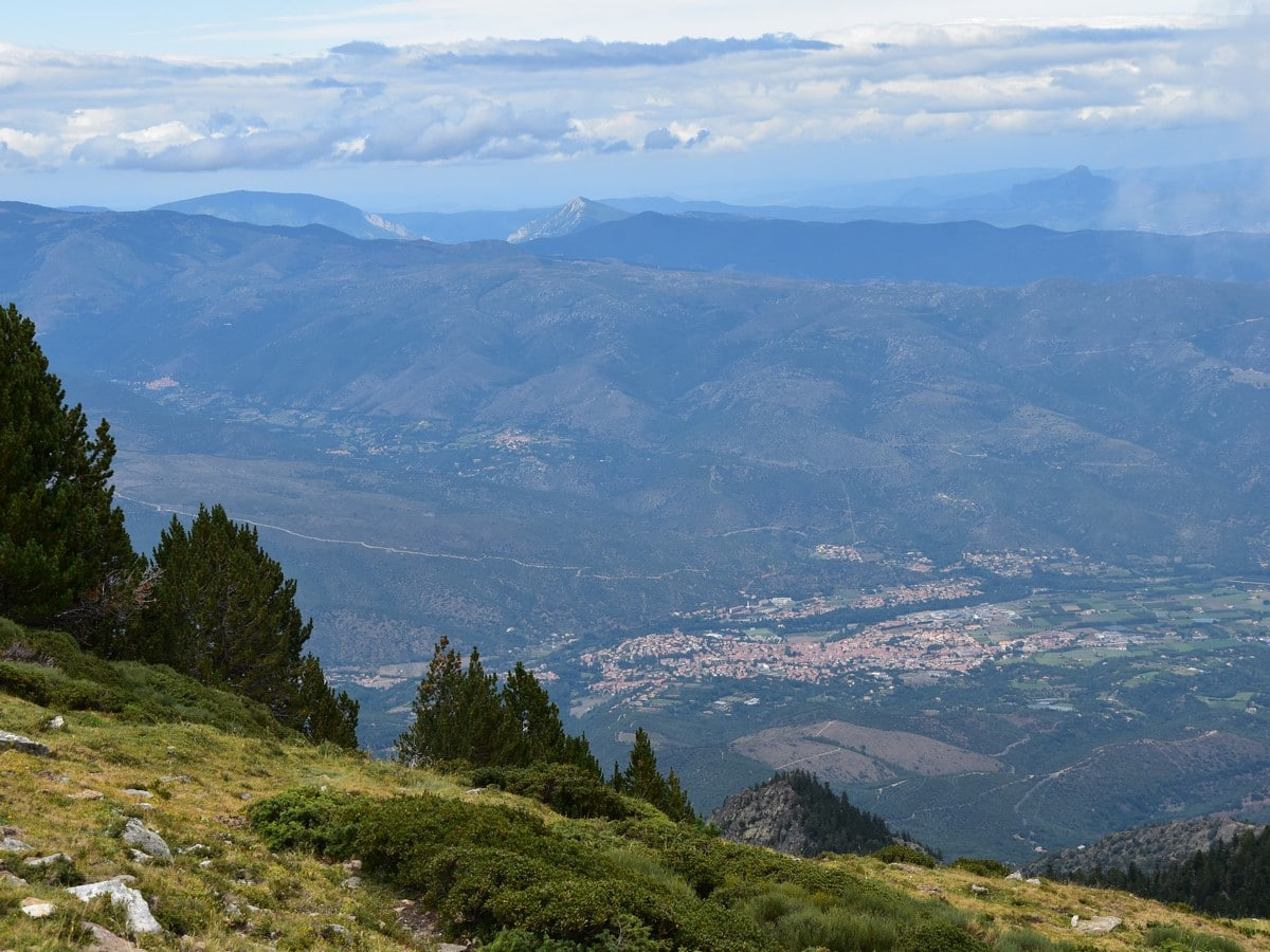 Prades and North Catalan Pyrenees from the Pic du Canigou Hike in French Pyrenees