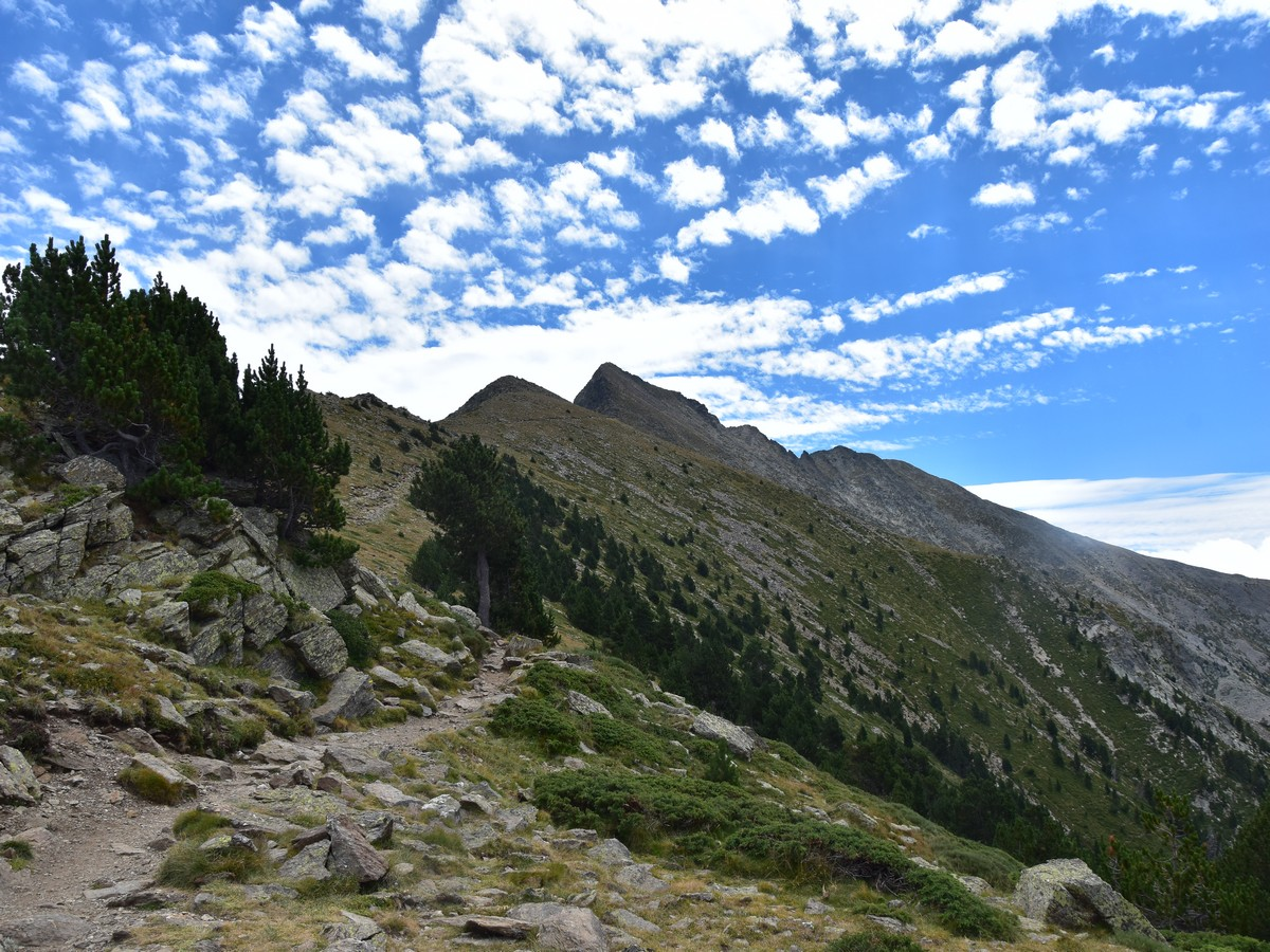 Beautiful ridge path on the Pic du Canigou Hike in French Pyrenees
