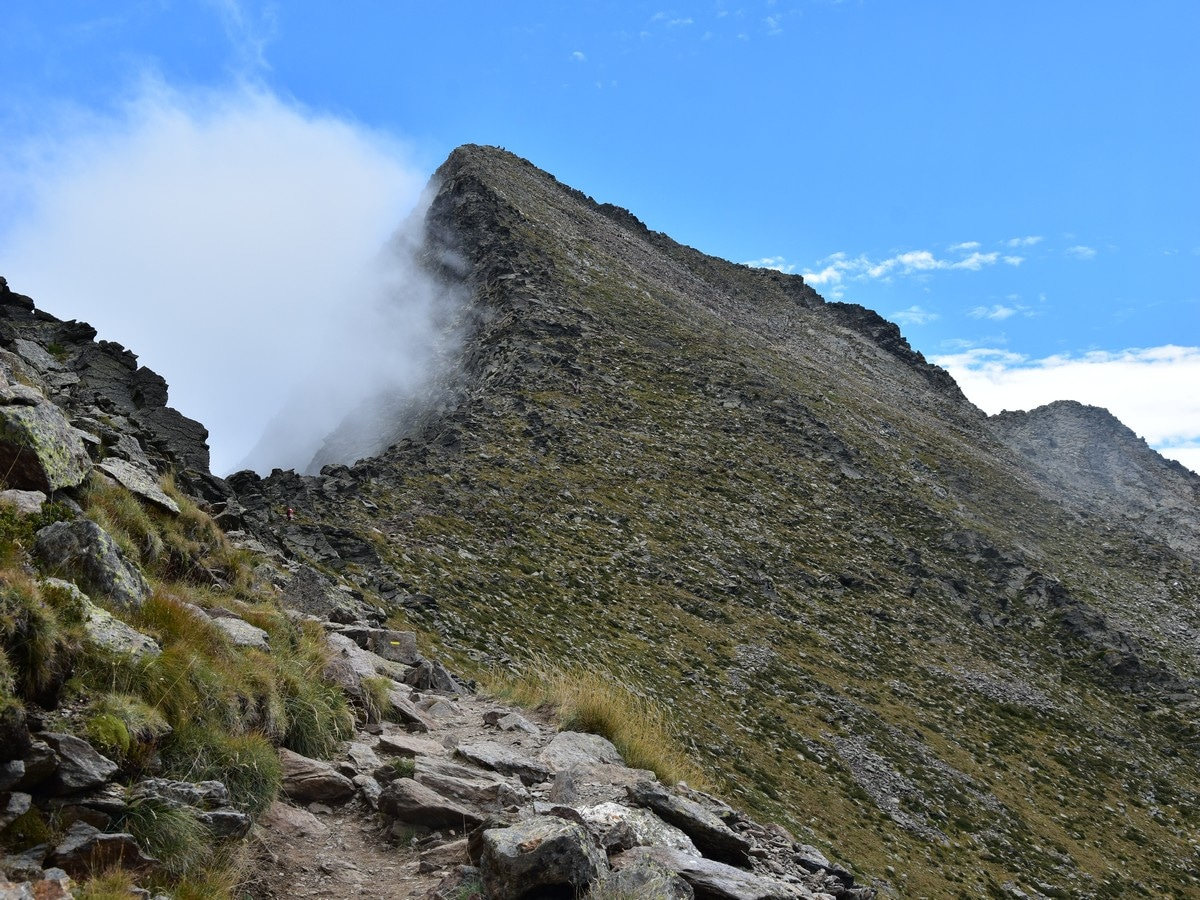 Ascending on the Pic du Canigou Hike in French Pyrenees