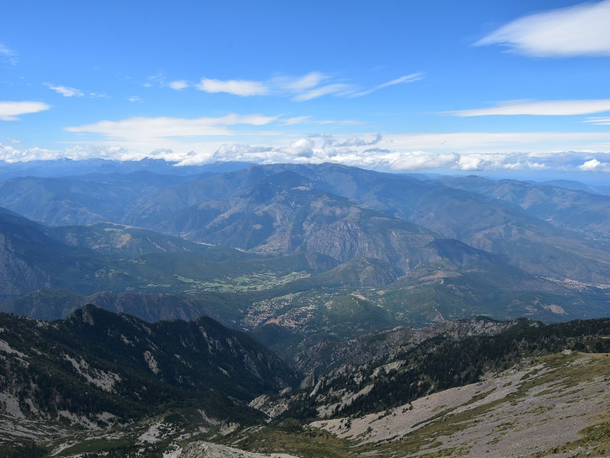 Looking northwest rom the Pic du Canigou Hike in French Pyrenees