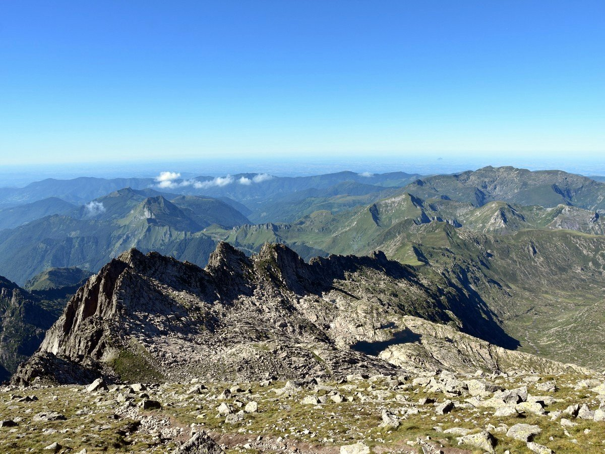 Pyrenean Peaks from the Above