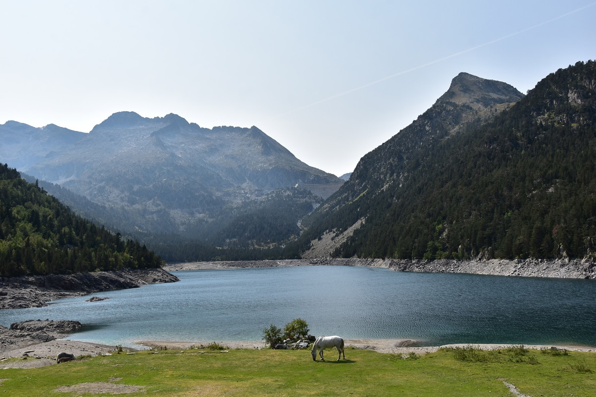 View from the car park over the Lac d'Oredon