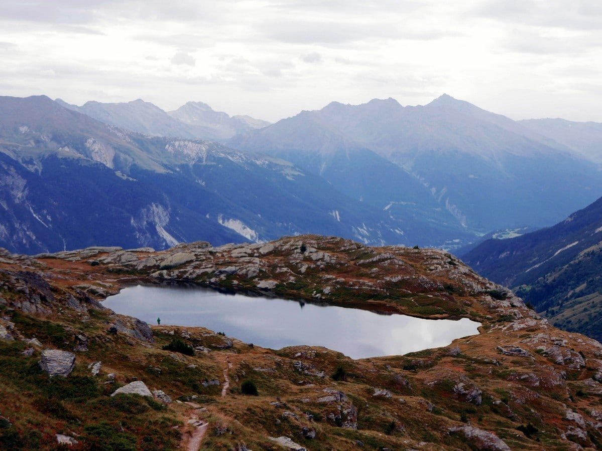 The beautiful Lac Blanc from the Above