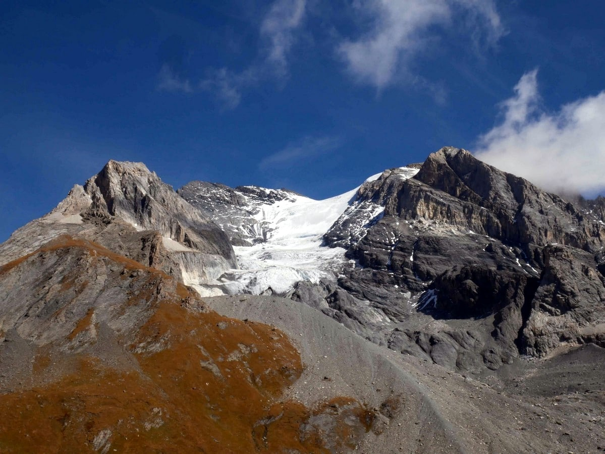 Grande Casse from the Lac des Vaches and Col de la Vanoise Hike in Vanoise National Park in France