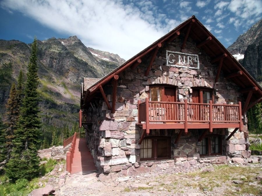 Sperry Chalet built by the Great Northern Railway