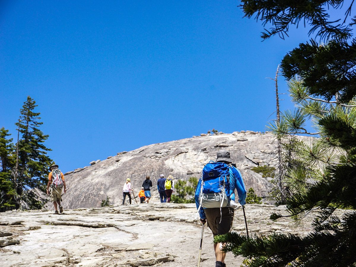 Trail of the Glacier Point hike in Yosemite