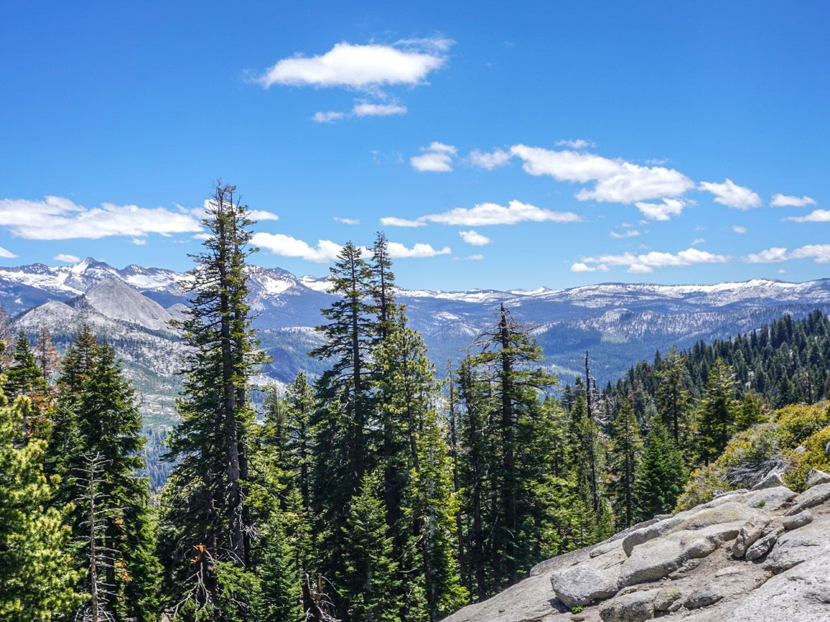 View of the area at Sentinel Dome to Glacier Point Hike Yosemite