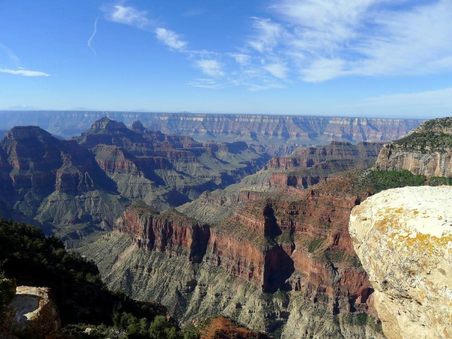 Looking west from the Bright Angel Point Hike in Grand Canyon National Park, Arizona