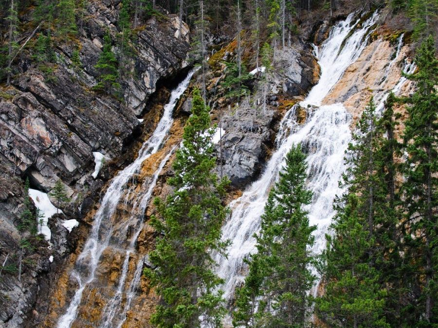 Grassi Falls is a must-visit on family's vacation in Canmore