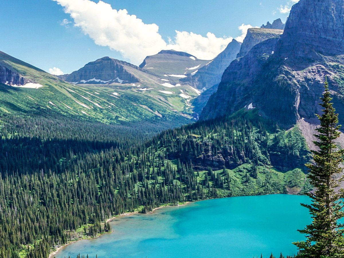 Grinnell Glacier Hike has some of the best Glacier National Park views