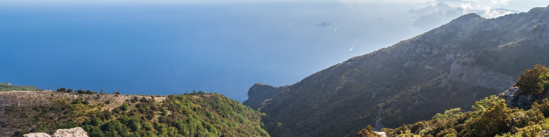 Panorama of the Monte Camino hike in Amalfi Coast, Italy