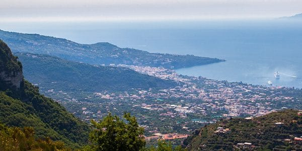 Panorama from the Monte Comune hike in Amalfi Coast, Italy