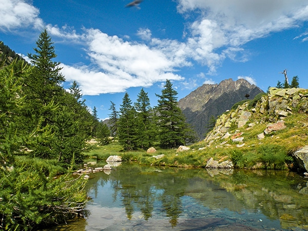Trail of the Lagarot di Lourousa hike in Alpi Marittime National Park, Italy