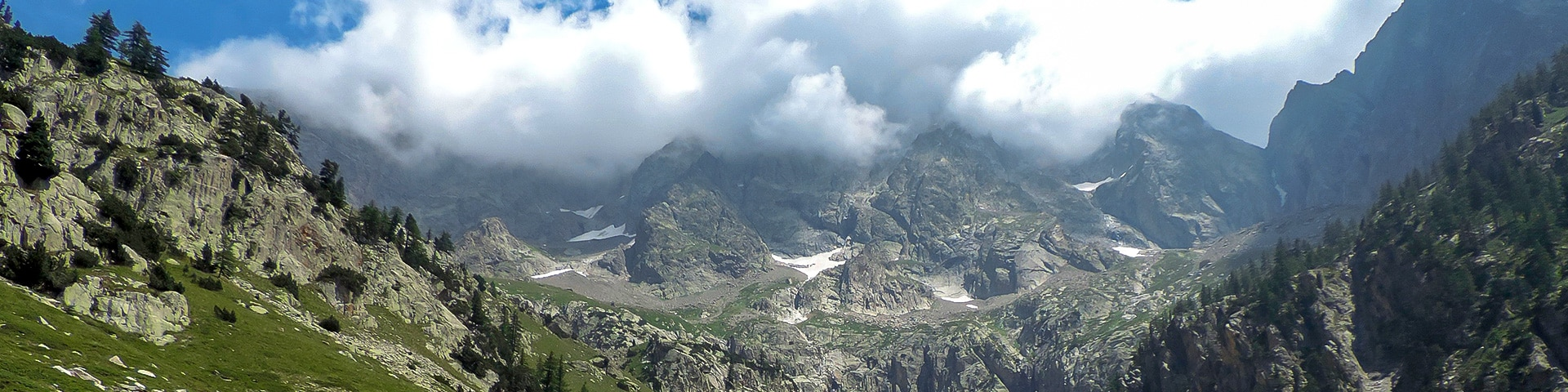 Panorama from the Vallone Argentera hike in Alpi Marittime National Park, Italy