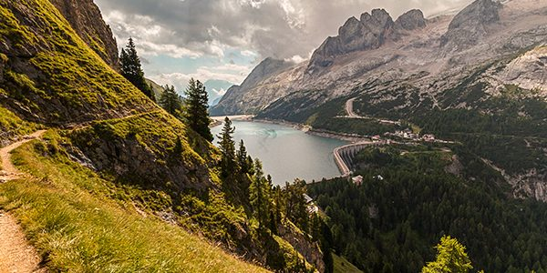 Scenery from the Viel del Pan hike in Dolomites, Italy