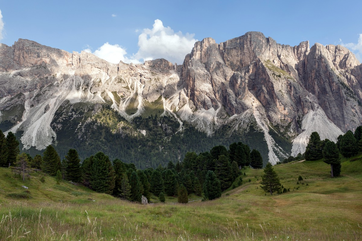 Puez massif from the Seceda / Puez Odle Hike in Dolomites, Italy