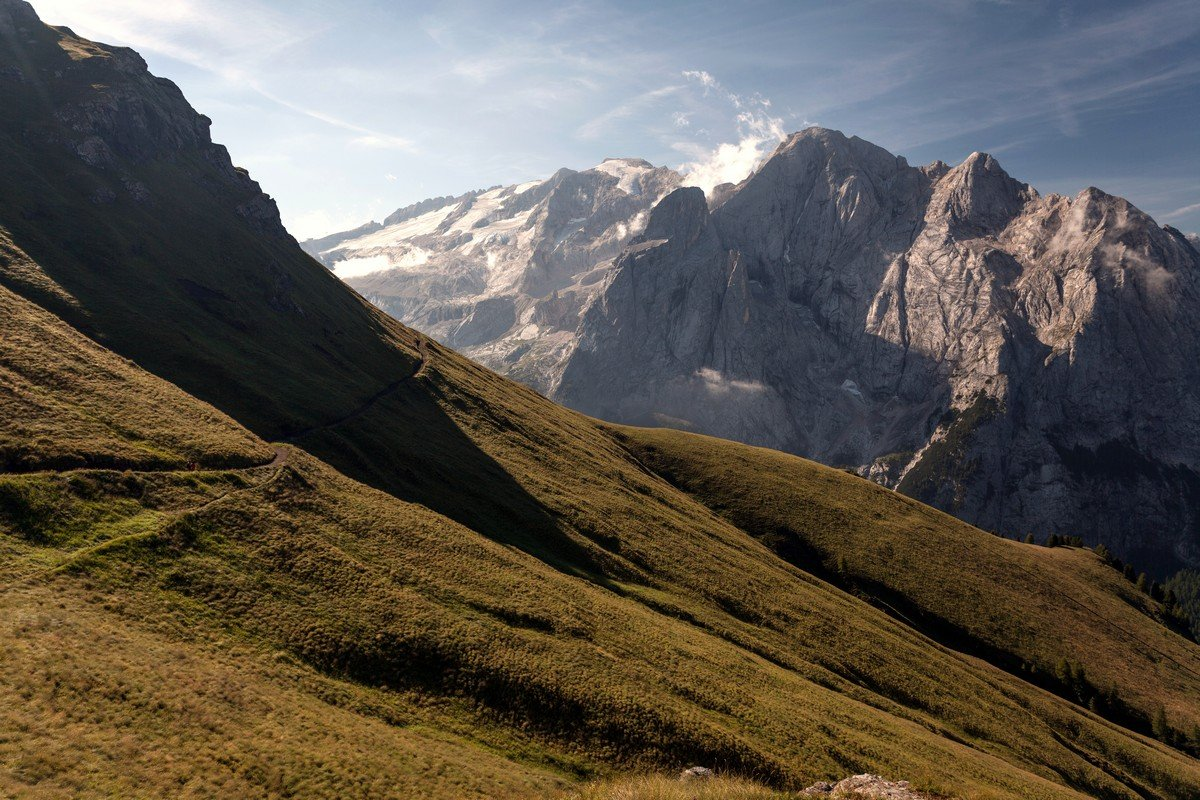 Trail of the Viel del Pan Marmolada Hike in Dolomites, Italy
