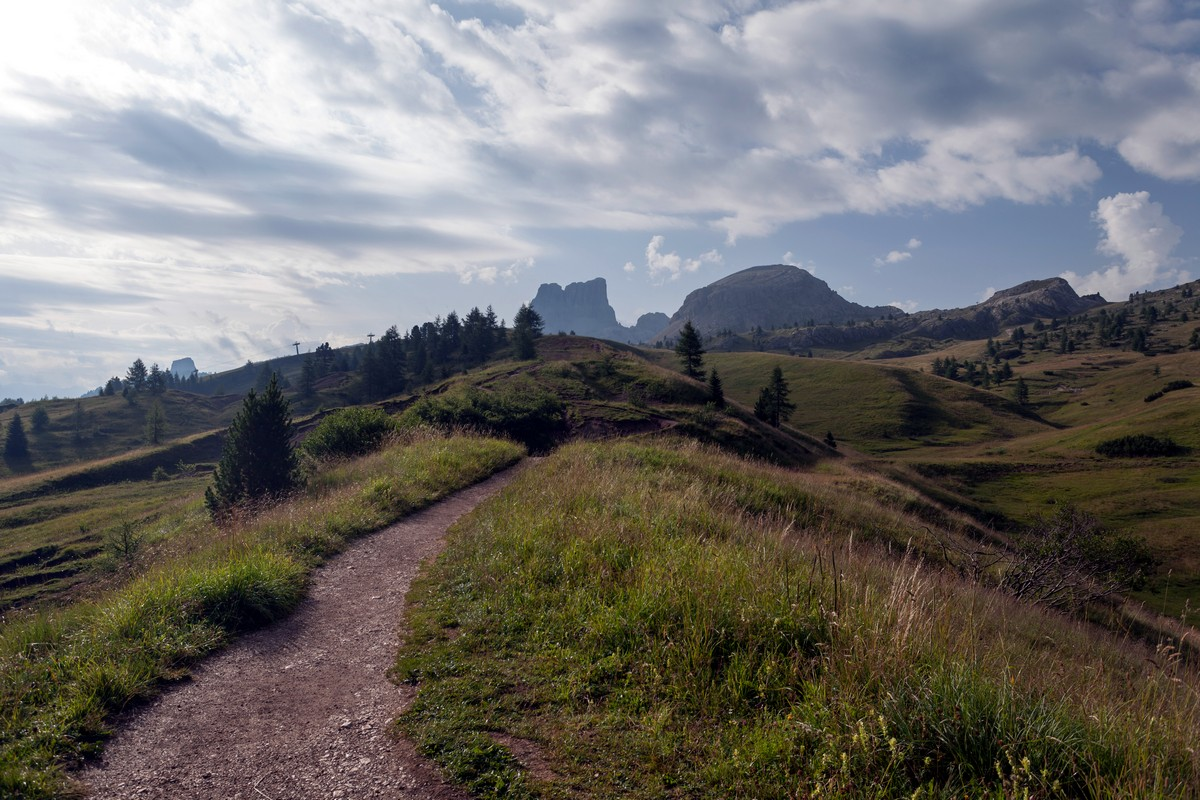 Averau and Nuvolau from the Nuvolau Hike in Dolomites, Italy