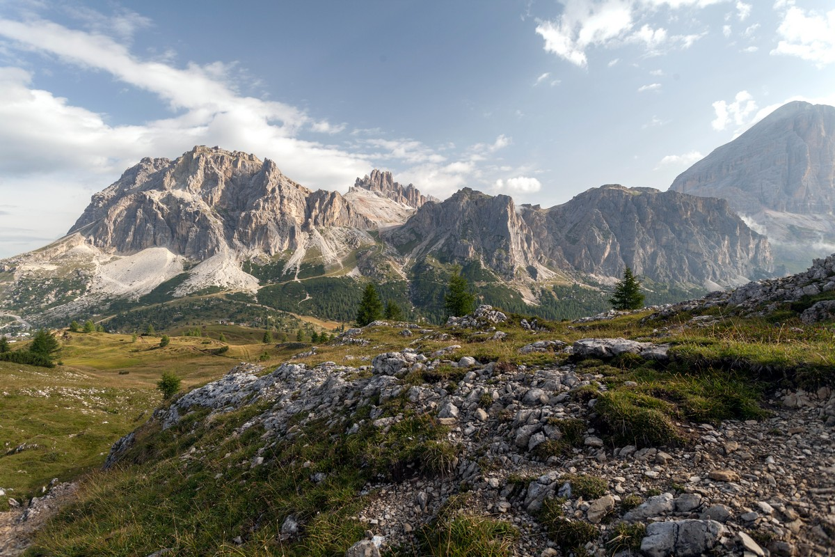 Le Tofane from the Nuvolau Hike in Dolomites, Italy