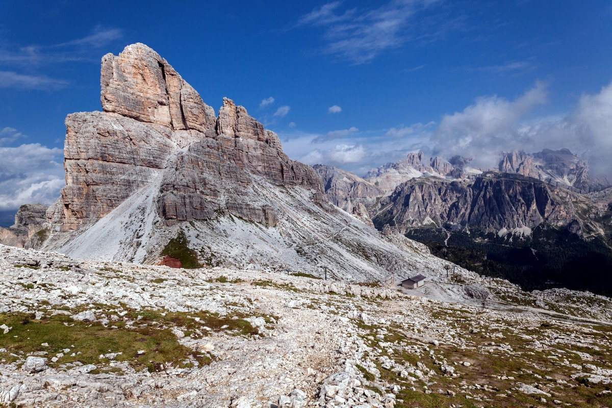 Mount Averau from the Nuvolau Hike in Dolomites, Italy