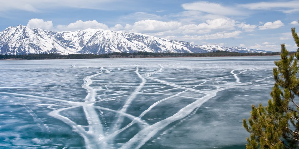 Ice on Jackson Lake