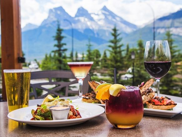Iron Goat restaurant is a great place to eat while on family's vacation in Canmore