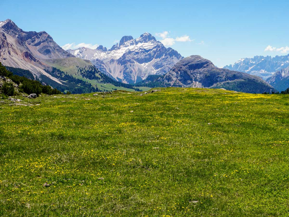 Stunning Dolomite scenery on the Alpe di Sennes Hike in Dolomites, Italy