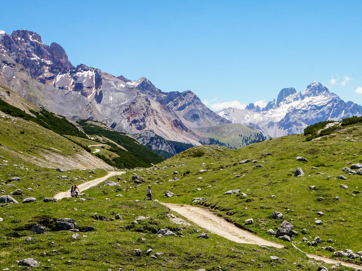 Stunning scenery on the Alpe di Sennes Hike in Dolomites, Italy