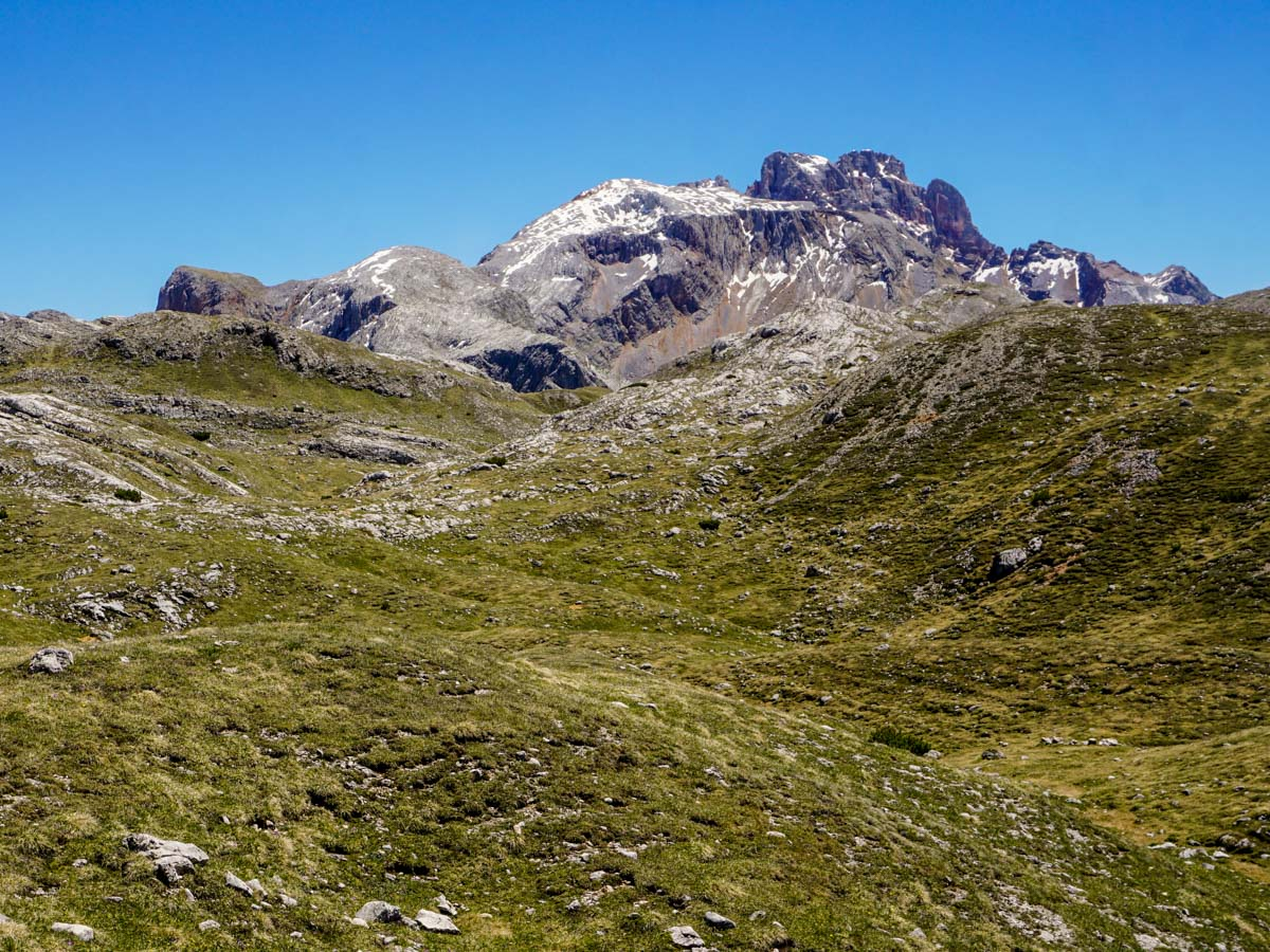 Alpine scenery from the Alpe di Sennes Hike in Dolomites, Italy