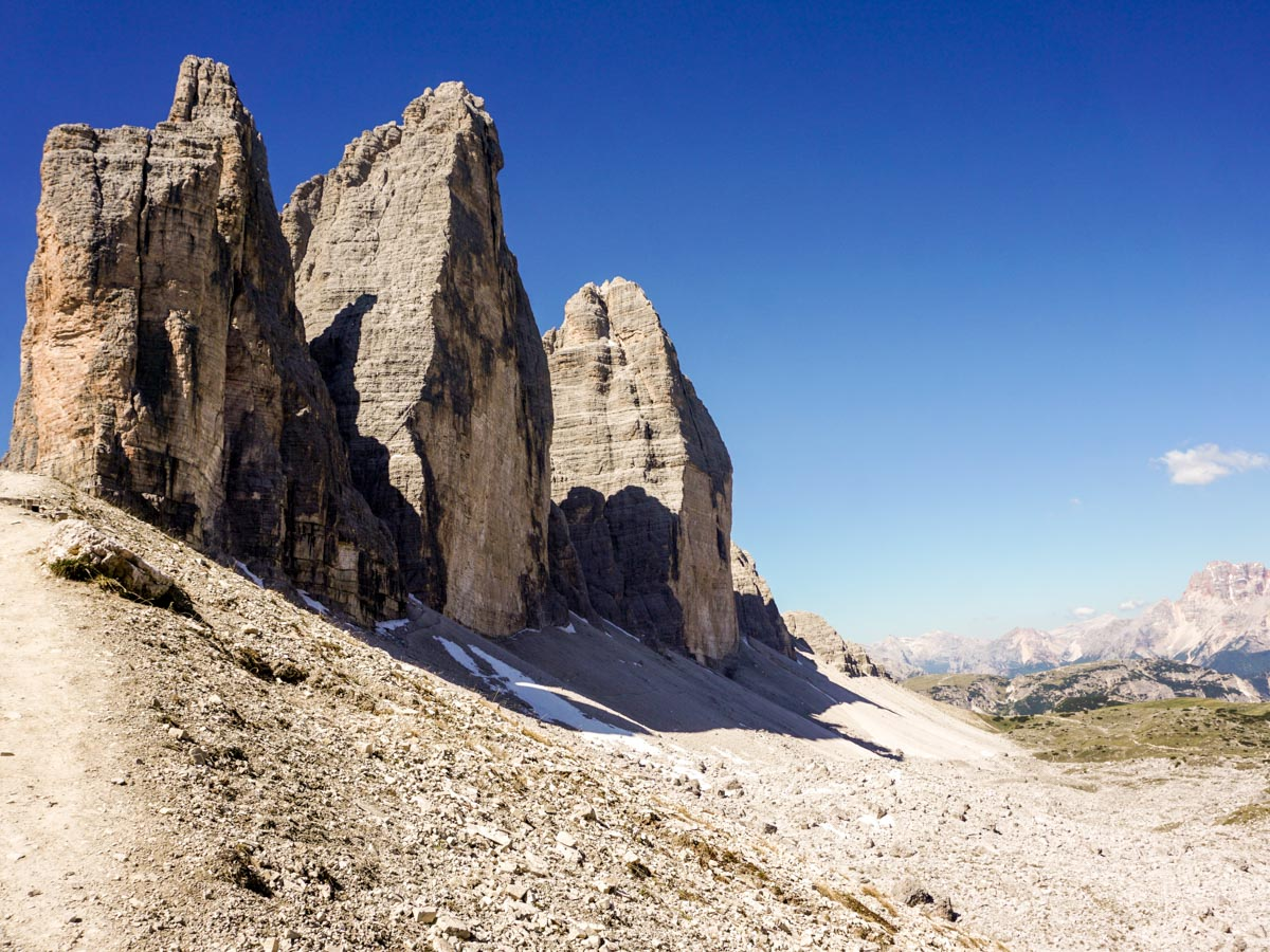 Views from the Tre Cime di Lavaredo Hike in Dolomites, Italy